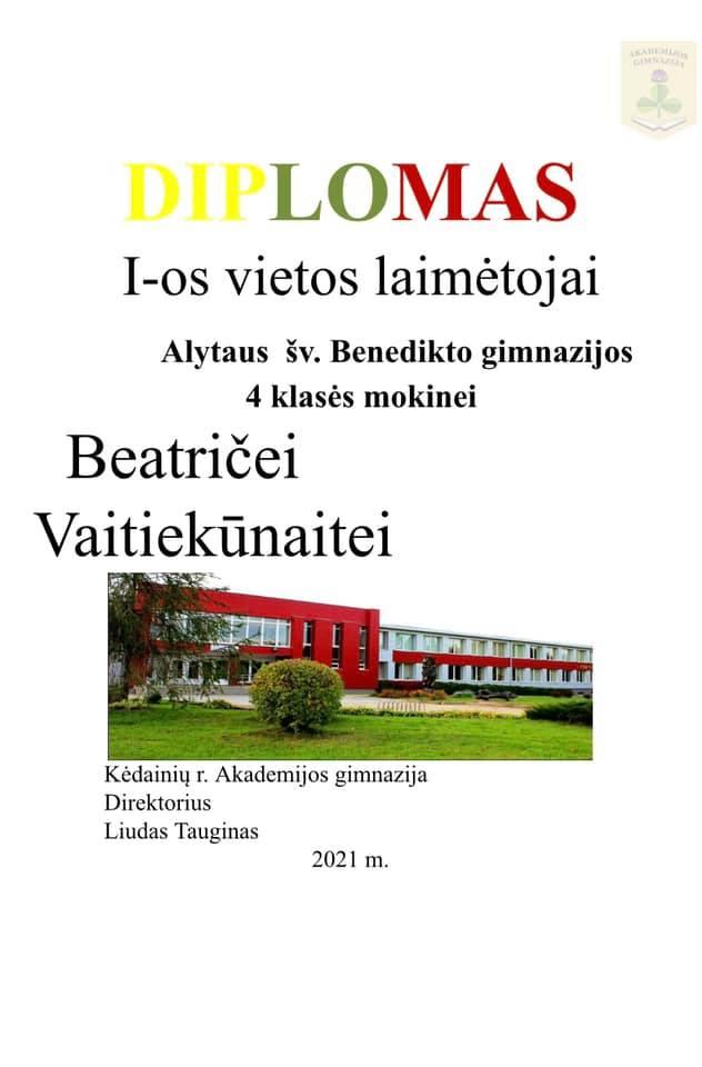 Sveikiname Beatričę!